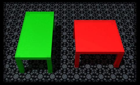 два стола одинаковых размеров