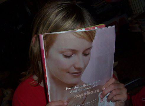 оптическая иллюзия лицо с обложки журнала