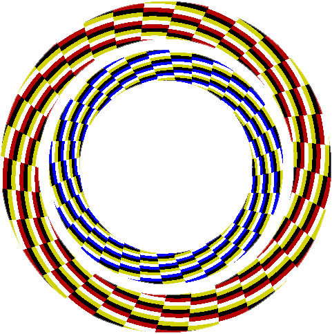 иллюзия вращающейся спирали