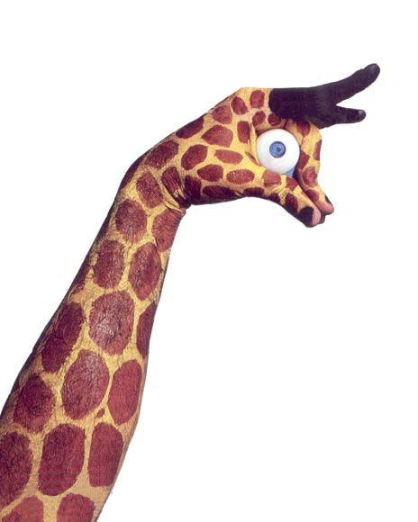 жираф боди арт